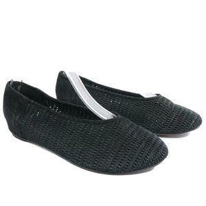 Eileen Fisher Womens Patch Perforated Ballet Flats